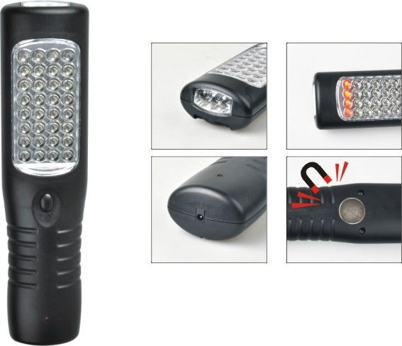 ROHS Certificated Handheld LED Work Lights With 3.7V 800Mah Lithium Rechargeable Battery
